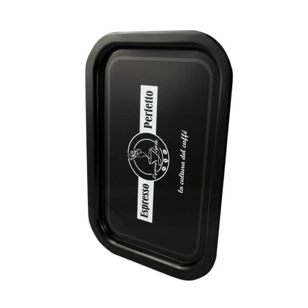 Espresso Perfetto Tablett in schwarz Logo