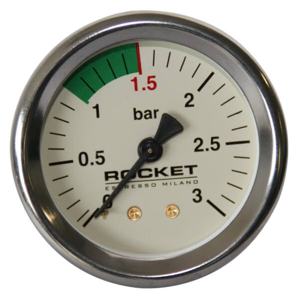 Rocket Kesselmanometer R58 3-Bar in Weiss