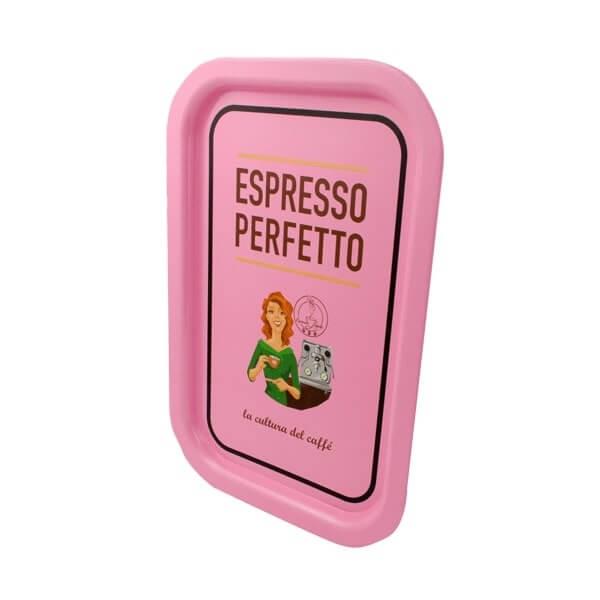 Espresso Perfetto Tablett in rosa Dame