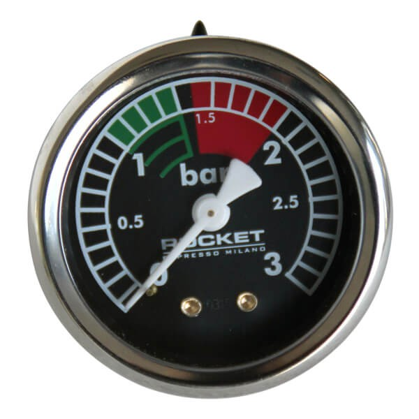 Rocket Kesselmanometer V2 3-Bar in Schwarz