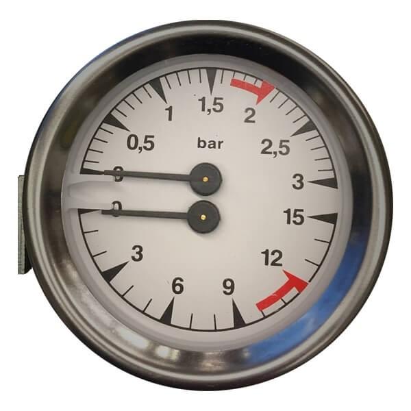 Bezzera Manometer für BZ10 & BZ07 mit Doppelanzeige