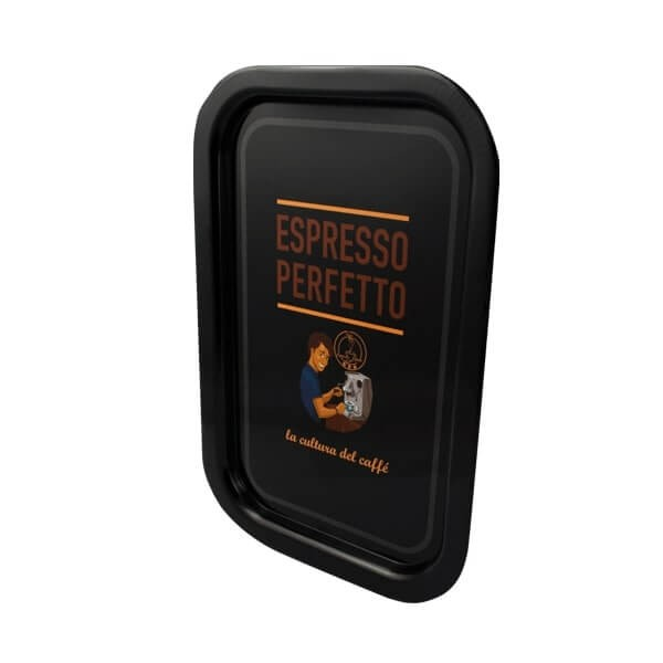 Espresso Perfetto Tablett in schwarz Mann